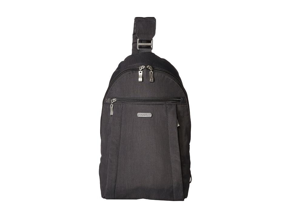 Baggallini Glide Sling Charcoal Sling Handbags
