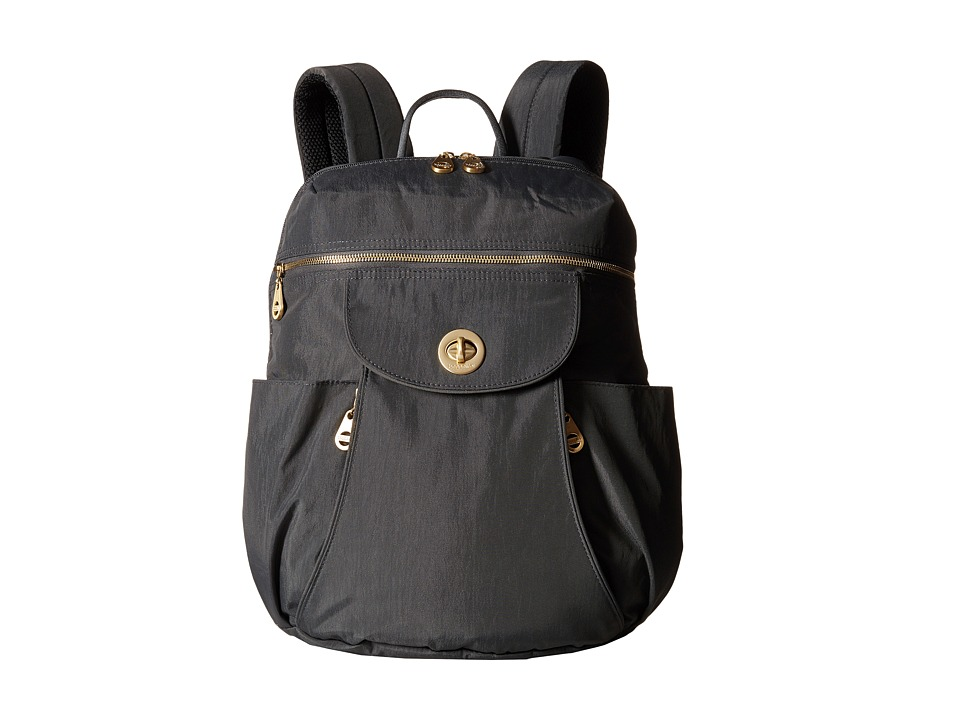 Baggallini Gold Capetown Backpack Charcoal Backpack Bags