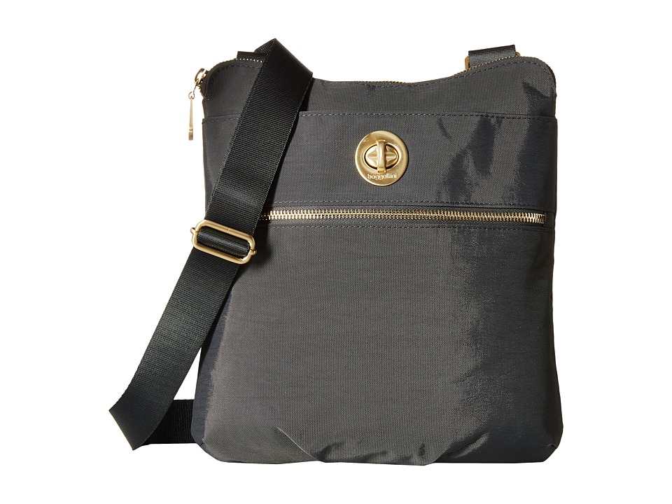 Baggallini Gold Hanover Crossbody (Charcoal) Cross Body Handbags