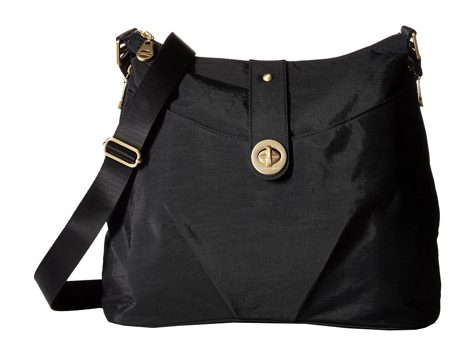Baggallini Gold Helsinki Bag (Black) Handbags