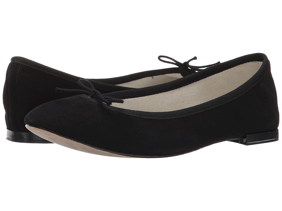 Repetto Cendrillon - Suede Leather (Noir (Black Suede)) Flats