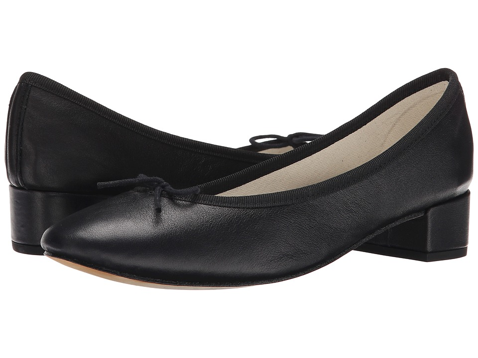 Repetto Camille Black Nappa Womens 1 2 inch heel Shoes