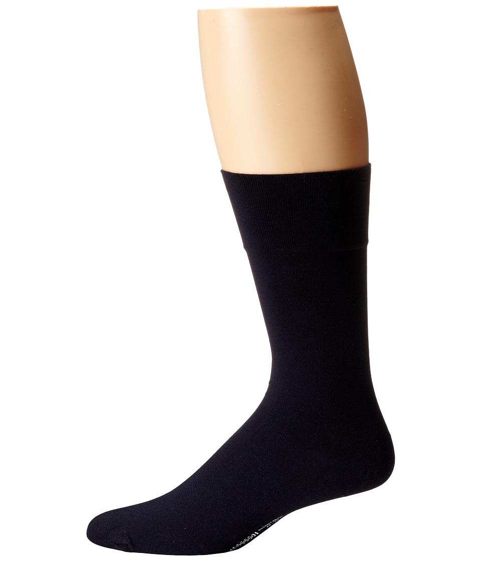Wolford Cotton Velvet Socks (Admiral) Men's Crew Cut Sock...