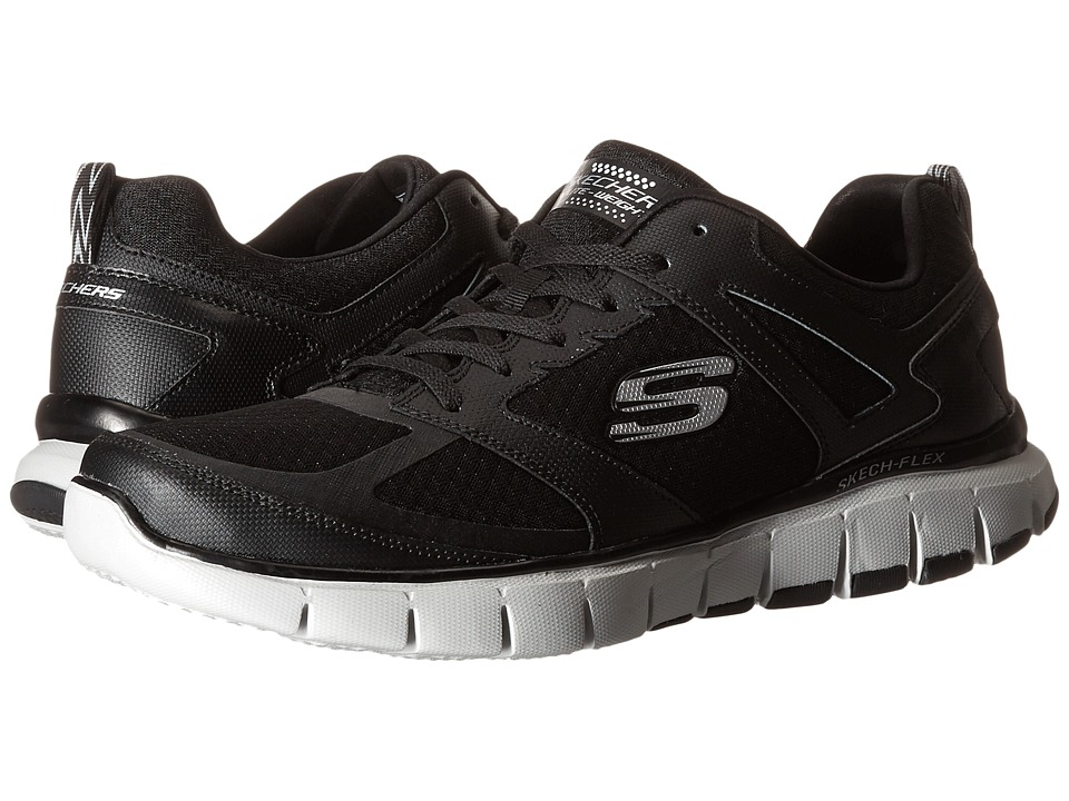 SKECHERS - Skech-Flex Power Alley (Black/Gray) Mens Shoes