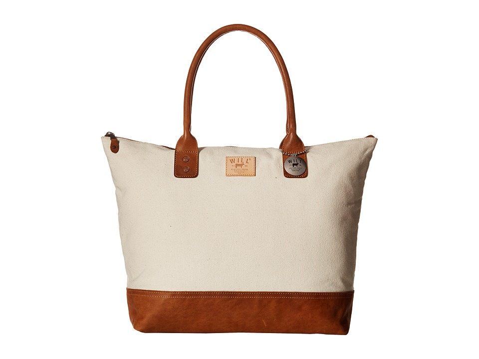 Will Leather Goods Getaway Tote Canvas Natural/Tan Luggage