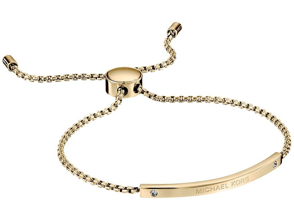 Michael Kors Logo Bracelet Slider Bracelet Gold Bracelet