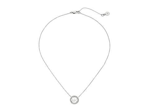 Michael Kors Logo Pendant - Short Necklace - Silver