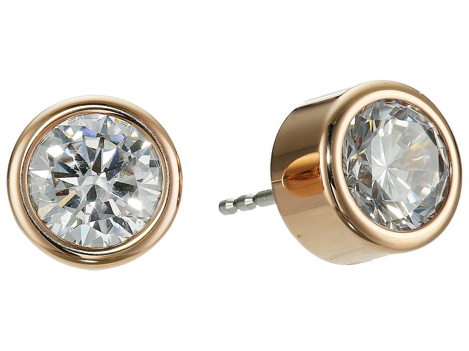 Michael Kors - Park Avenue Glam Stud Earrings (Rose Gold 1) Earring
