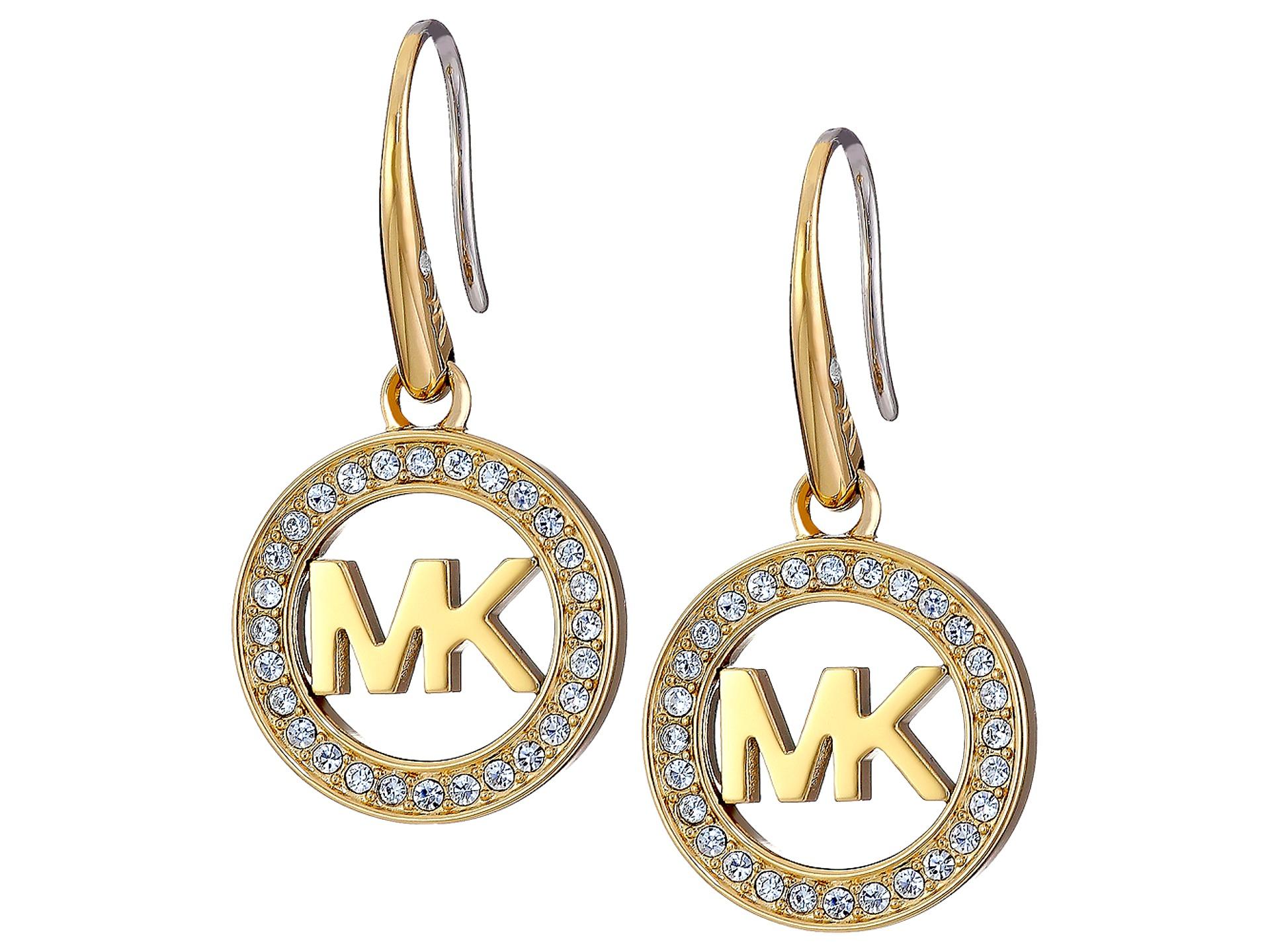 michael kors logo drop earrings zappos free shipping