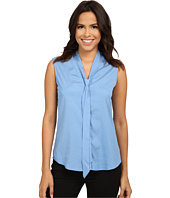 Calvin Klein - Sleeveless Blouse with Detachable Scarf