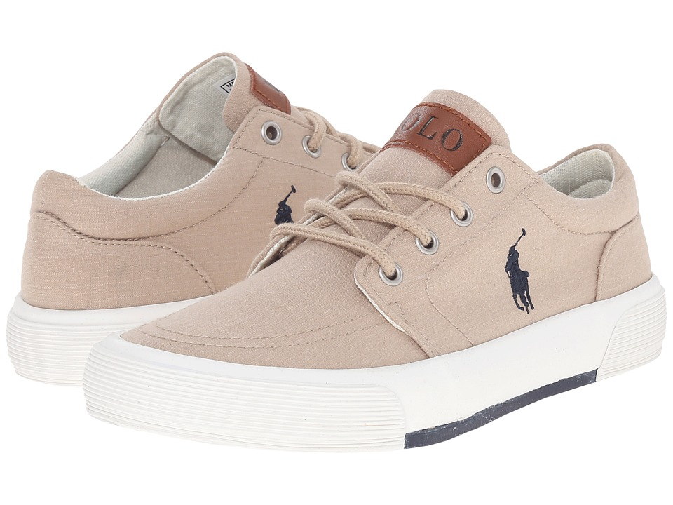 Polo Ralph Lauren Kids - Faxon II (Big Kid) (Khaki Heather Canvas/Navy) Boys Shoes