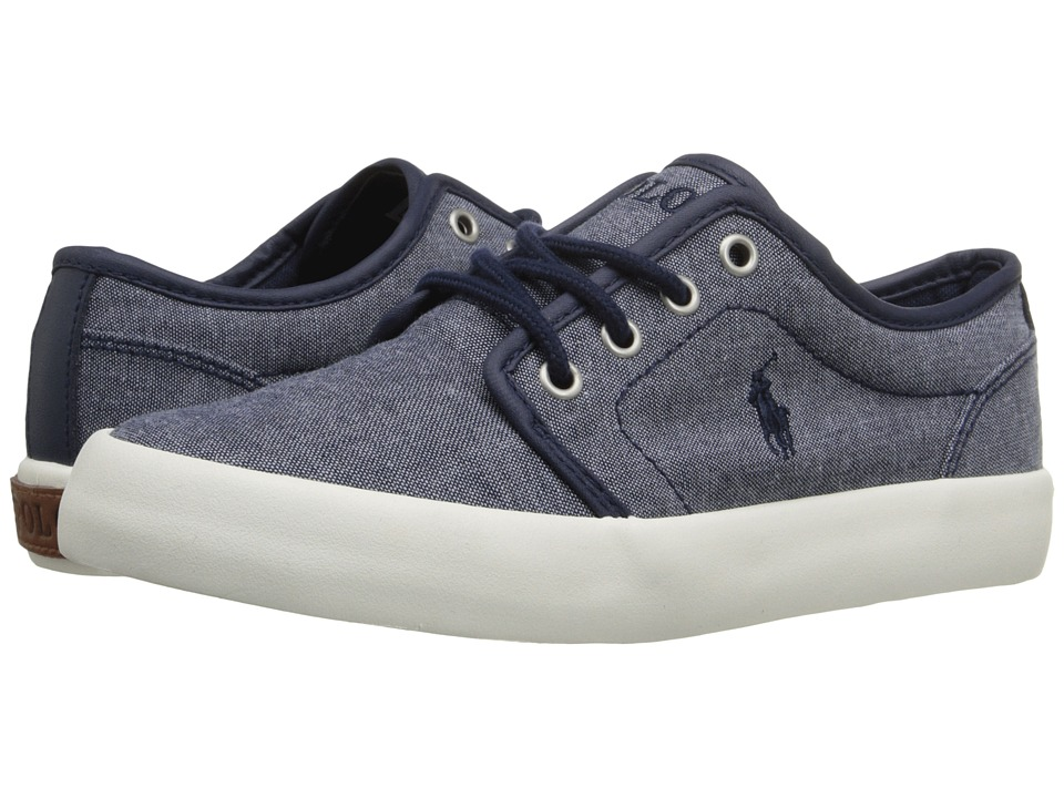 Polo Ralph Lauren Kids Ethan Low Little Kid Navy Chambray Kids Shoes