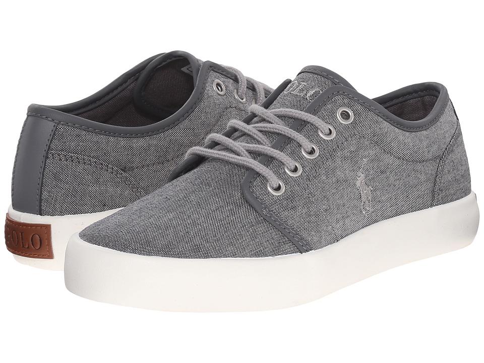 Polo Ralph Lauren Kids Ethan Low Big Kid Grey Chambray/Grey Trim Kids Shoes
