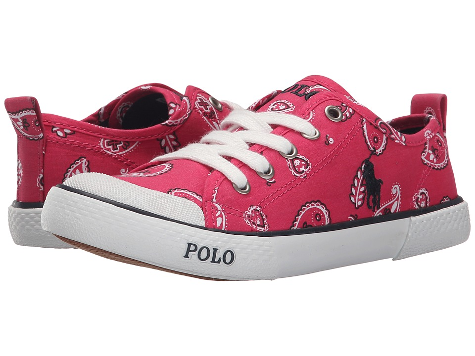 Polo Ralph Lauren Kids Carlisle III Little Kid Ultra Pink Bandana/Navy Girls Shoes