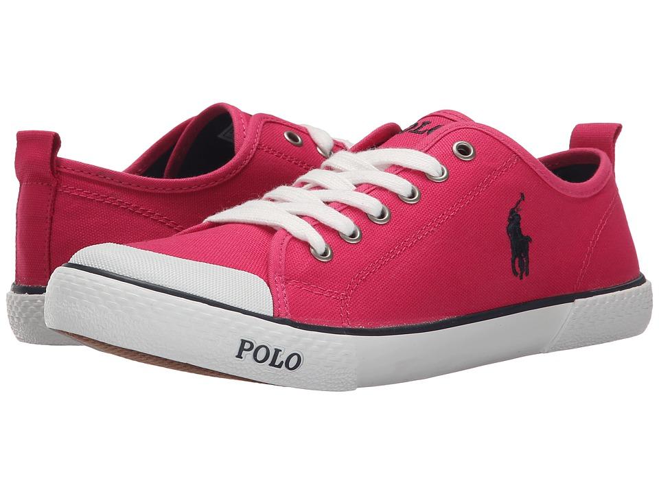 Polo Ralph Lauren Kids Carlisle III Big Kid Ultra Pink Canvas/Navy Girls Shoes