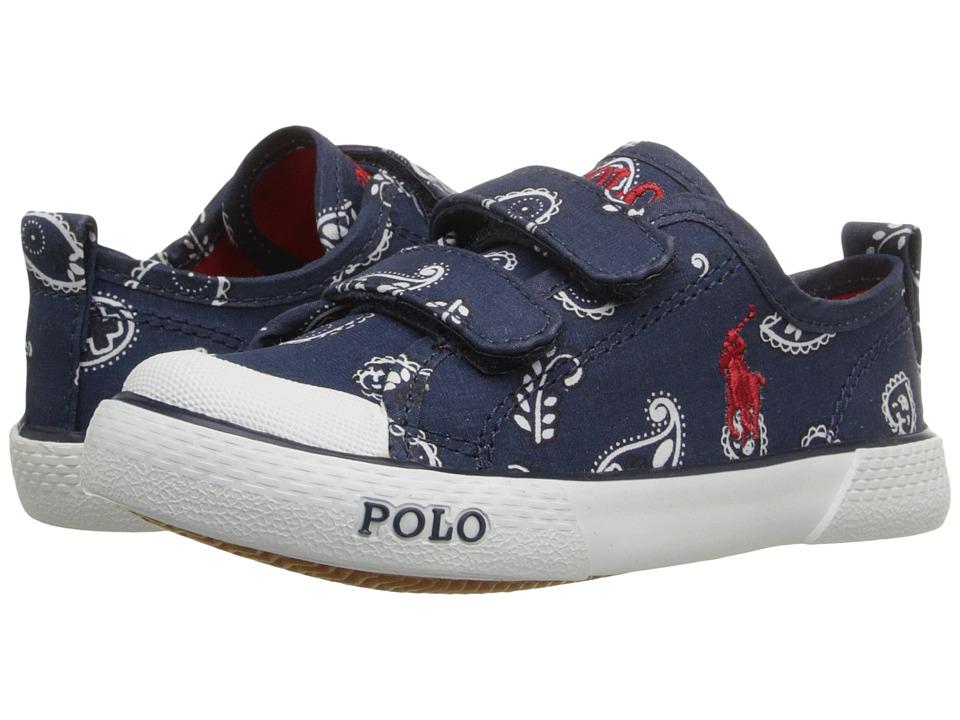 Polo Ralph Lauren Kids Carlisle III EZ Toddler Navy Bandana/Red Kids Shoes