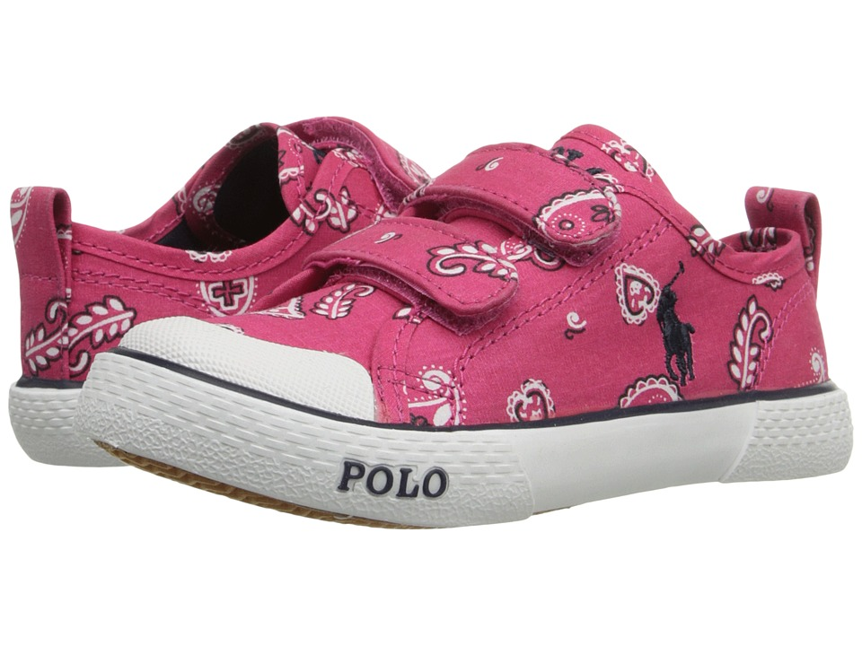 Polo Ralph Lauren Kids Carlisle III EZ Toddler Ultra Pink Bandana/Navy Kids Shoes