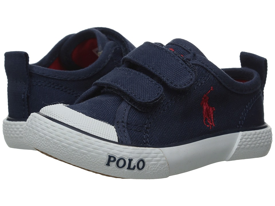 Polo Ralph Lauren Kids Carlisle III EZ Toddler Navy Canvas/Red Kids Shoes