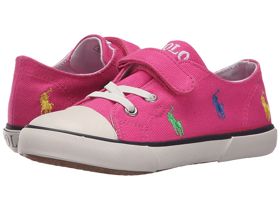Polo Ralph Lauren Kids Kody Toddler Active Pink Canvas/Multi Girls Shoes