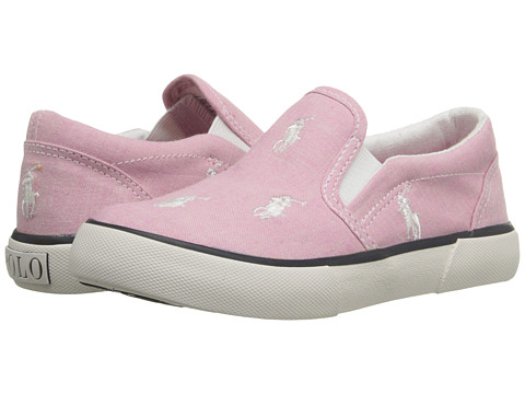 Polo Ralph Lauren Kids Bal Harbour Repeat (Toddler) - Pink Chambray/White Ponies