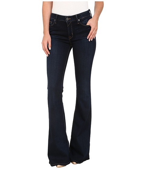 Hudson Mia Five-Pocket Mid Rise Flare Jeans in Oracle - 6pm.com
