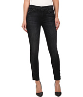 Hudson - Luna Midrise w/ Side Grommets Jeans in Varnished (Black)
