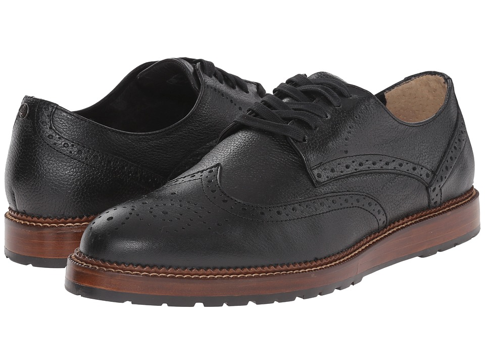 Dr. Scholls Braxton Original Collection Black Mens Lace Up Wing Tip Shoes