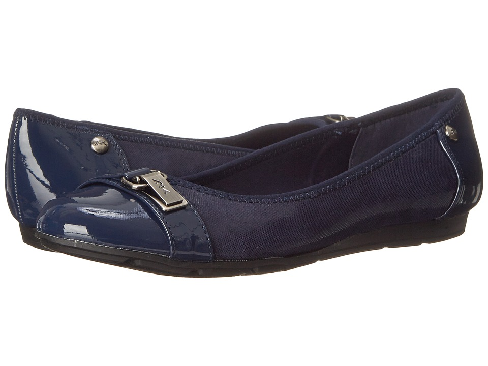 Anne Klein Able Navy Womens Slip on Shoes