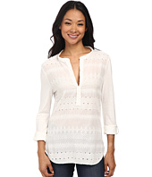 Dylan by True Grit - Artisan Stitched Poet Blouse w/ Roll Sleeve