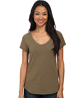 Dylan by True Grit - Luxe Suede Knit Short Sleeve V-Tee