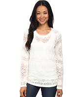 Dylan by True Grit - Lariat Lace Long Sleeve Tee