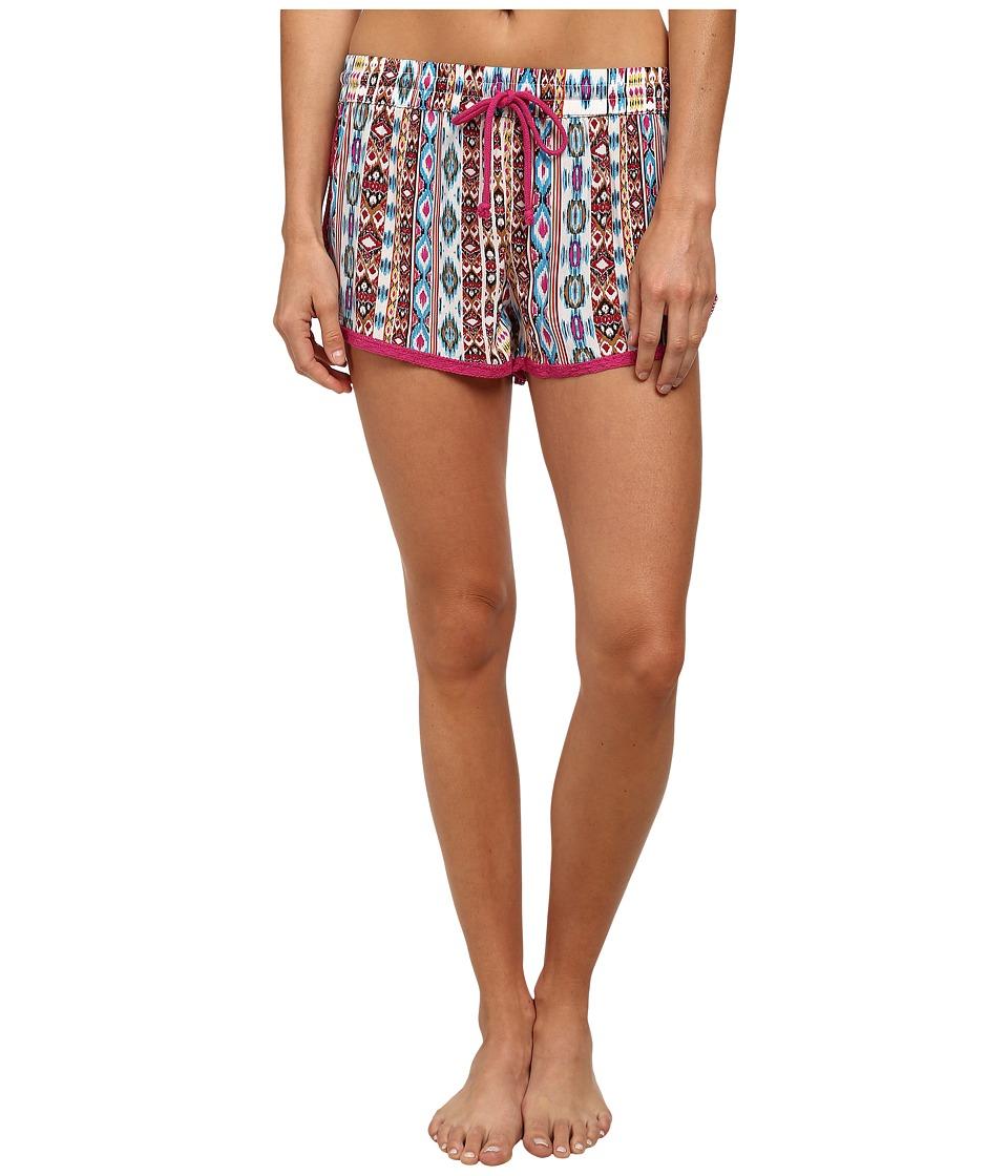 P.J. Salvage Wanderlust Sleep Shorts Multi Aztec Womens Pajama