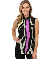 Jamie Sadock - Crunchy Bubble Textured Fujiyama Print Sleeveless Top