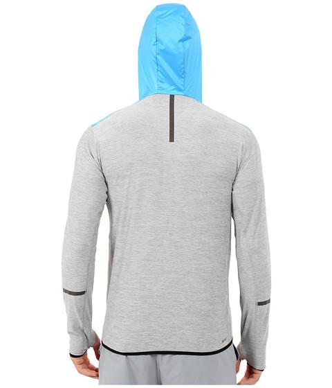 new balance transit hoodie heather grey multi sonar. Black Bedroom Furniture Sets. Home Design Ideas