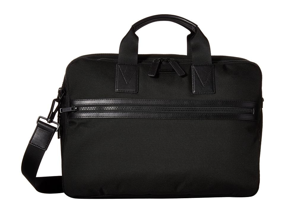 Michael Kors Parker Ballistic Nylon Large Briefcase (Black) Briefcase Bags