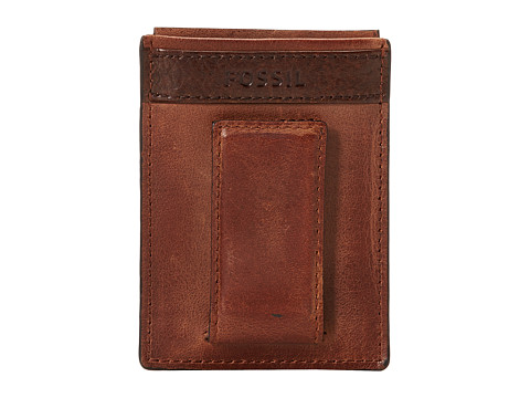 Fossil Quinn Magnetic Card Case - Brown