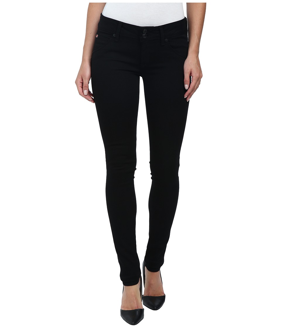 Hudson - Collin Skinny Jeans in Black (Black) Womens Jeans
