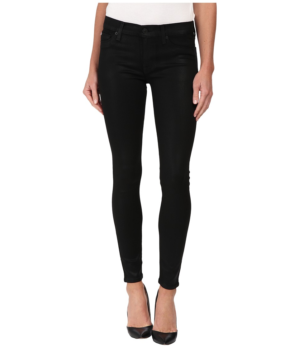 Hudson - Krista Coated Super Skinny Jeans in Noir Coated