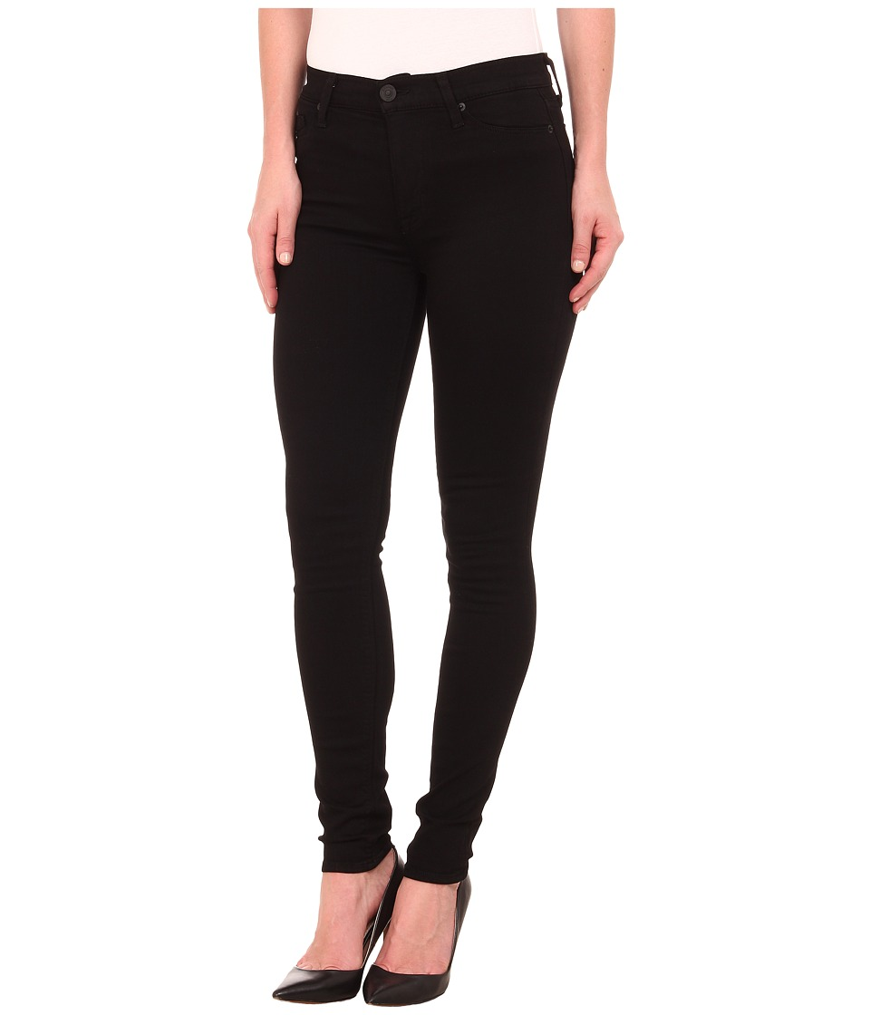 Hudson Barbara High Rise Skinny Jeans in Black Black Womens Jeans