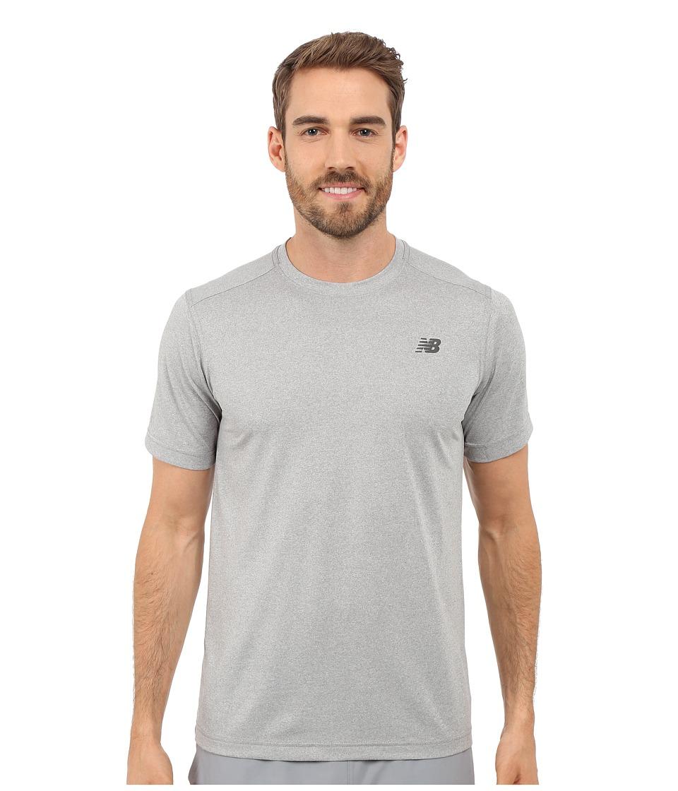 New Balance Short Sleeve Heather Tech Tee Heather Grey Mens T Shirt