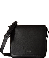 Michael Kors - Bryant Pebble Leather Medium Flap Messenger