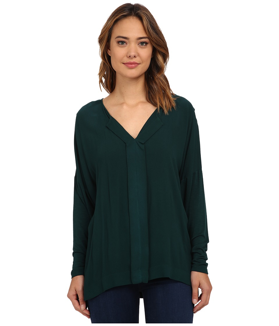 Miraclebody Jeans Eva Envelope Top w/ Body Shaping Inner Shell Spruce Green Womens Clothing