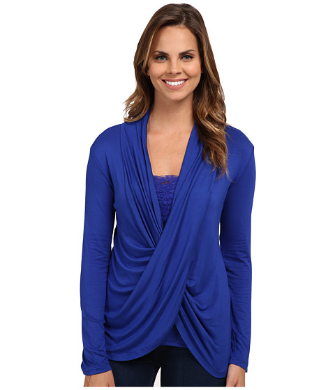 Miraclebody Jeans Tobi Twisted Wrap Top w/ Body-Shaping Inner Shell