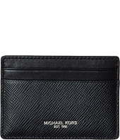 Michael Kors - Harrison Cross Grain Leather Card Case w/ Money Clip