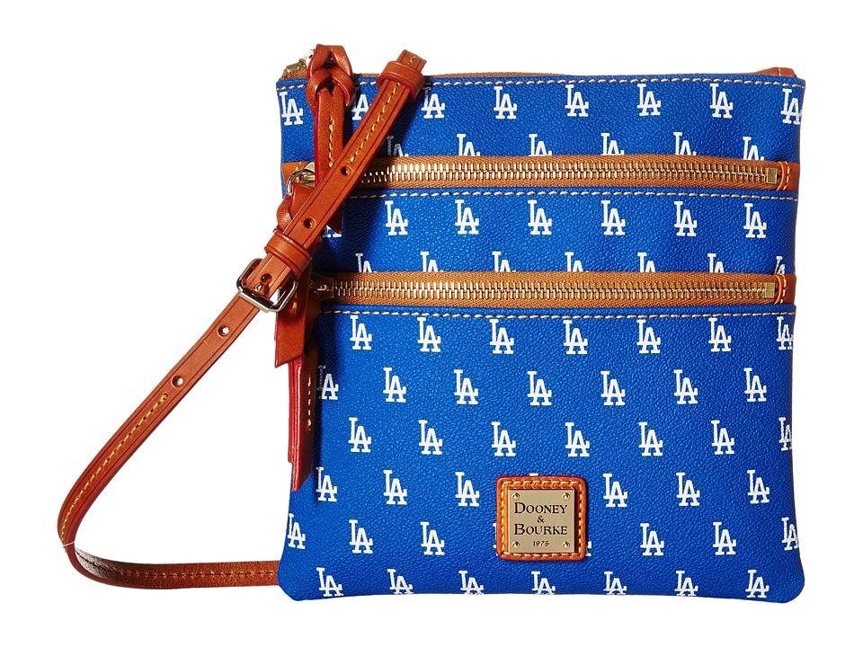 Dooney & Bourke - MLB Triple Zip Crossbody (Dodgers) Cross Body Handbags