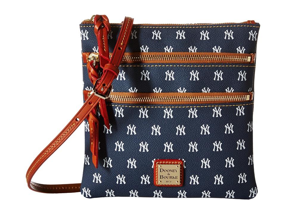 Dooney & Bourke - MLB Triple Zip Crossbody (New York Yankees) Cross Body Handbags