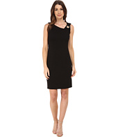 Laundry by Shelli Segal - Asymmetric Neck Dress w/ Metal Trim