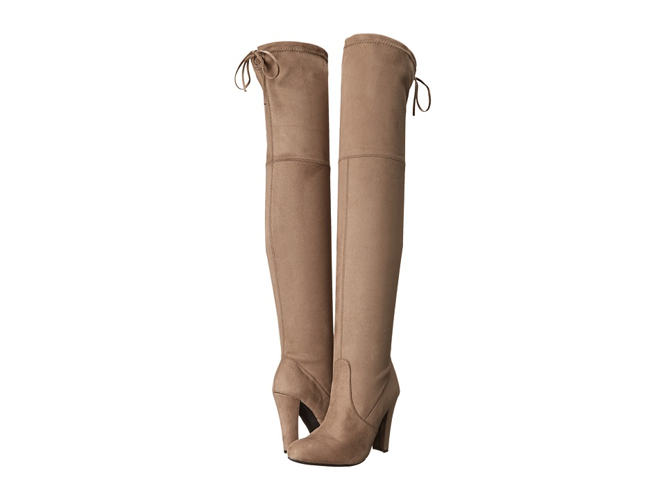 Steve Madden Gorgeous Knee Boot (Taupe) Women's Dress Pull-on Boots