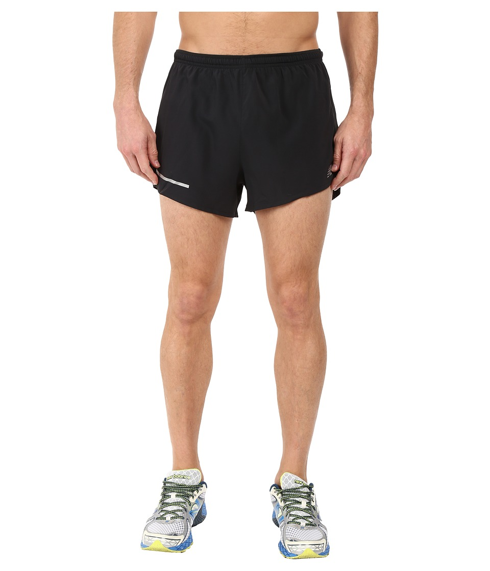New Balance Impact 3 Split Shorts (Black) Men