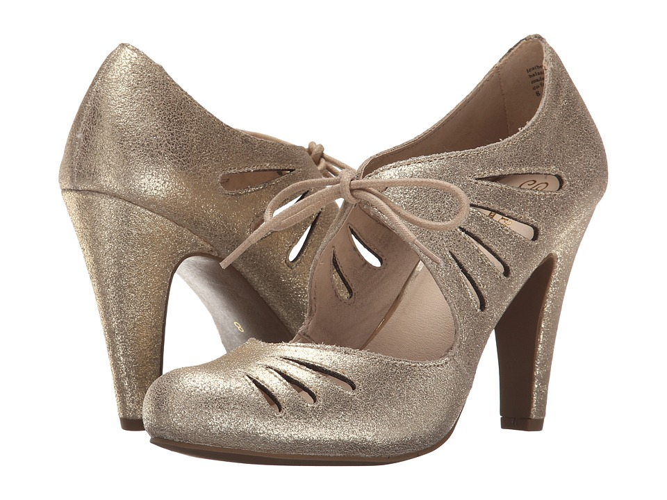 Seychelles - Brave Gold Metallic High Heels $100.00 AT vintagedancer.com